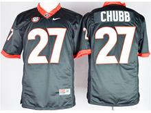 Mens Ncaa Nfl Georgia Bulldogs #27 Nick Chubb Black Jersey