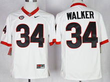 Mens Ncaa Nfl Georgia Bulldogs #34 Herchel Walker White Jersey