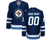 Women Reebok Nhl Winnipeg Jets (custom Made) Blue New Style Jersey