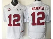 Mens Ncaa Nfl Alabama Crimson #12 Namath White Sec Limited Jersey
