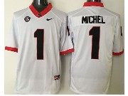 Mens Ncaa Nfl Georgia Bulldogs #1 Michel White Sec Limited Jersey