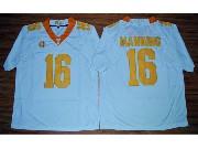 Mens Ncaa Nfl 2015 Tennessee Volunteers #16 Peyton Manning White Football Jersey