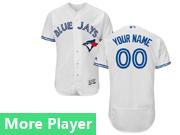 Mens Majestic Toronto Blue Jays White Flex Base Current Player Jersey