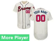 Mens Majestic Atlanta Braves Cream Flex Base Current Player Jersey
