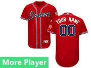Mens Majestic Atlanta Braves Red Flex Base Current Player Jersey