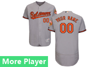 Mens Majestic Baltimore Orioles Gray Flex Base Current Player Jersey