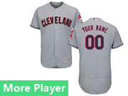 Mens Majestic Cleveland Indians Gray Flex Base Current Player Jersey