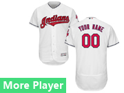 Mens Majestic Cleveland Indians White Flex Base Current Player Jersey