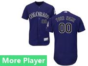 Mens Majestic Colorado Rockies Purple Flex Base Current Player Jersey