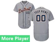 Mens Majestic Detroit Tigers Gray Flex Base Current Player Jersey
