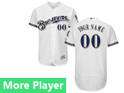 Mens Majestic Milwaukee Brewers White Flex Base Current Player Jersey