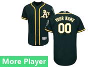 Mens Majestic Oakland Athletics Dark Green Flex Base Current Player Jersey