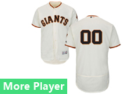 Mens Majestic San Francisco Giants Cream Flex Base Current Player Jersey