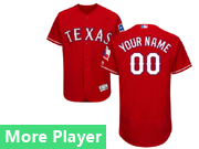 Mens Majestic Texas Rangers Red Flex Base Current Player Jersey
