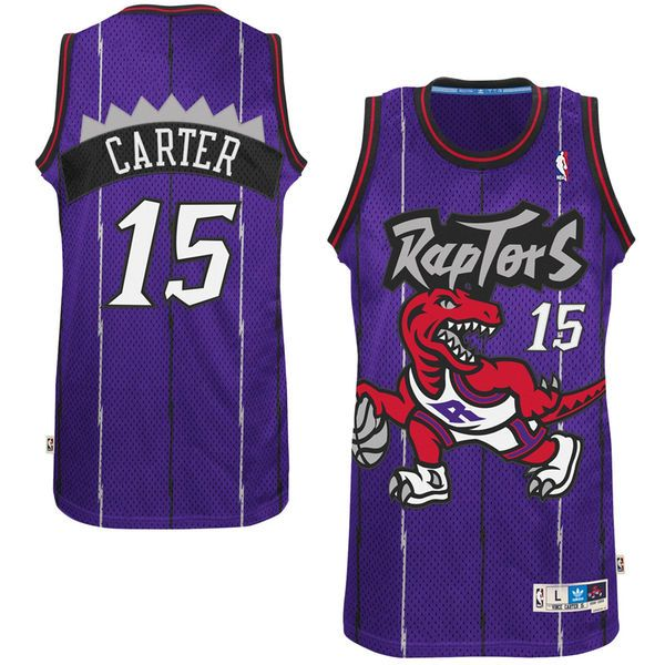 Mens NBA Toronto Raptors #15 Vince Carter Purple Swingman Jersey