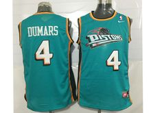 Mens Nba Detroit Pistons #4 Joe Dumars Green Mesh Jersey