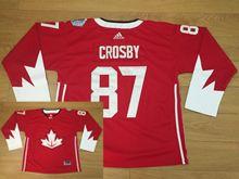 Mens Nhl Team Canada #87 Sidney Crosby Red 2016 World Cup Hockey Jersey