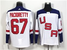 Mens Team Usa #67 Max Pacioretty White 2016 World Cup Hockey Jersey