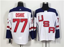 Mens Team Usa #77 T. J. Oshie White 2016 World Cup Hockey Jersey