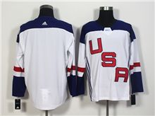 Mens Team Usa Blank White 2016 World Cup Hockey Jersey