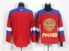 Mens Team Russia (custom Made) Red 2016 World Cup Hockey Jersey