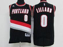 Mens Nba Portland Trail Blazers #0 Damian Lillard Black Jersey (p)
