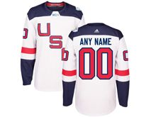 Mens Team Usa (custom Made) White 2016 World Cup Hockey Jersey