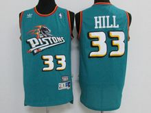 Mens Nba Detroit Pistons #33 Grant Hill Green Throwbacks Jersey