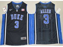 Mens Ncaa Nba Duke Blue Devils #3 Garyson Allen Black Elite (v Neck) Jersey