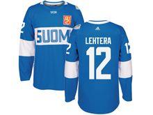 Mens Nhl Team Finland #12 Jori Lehtera Blue 2016 World Cup Hockey Jersey