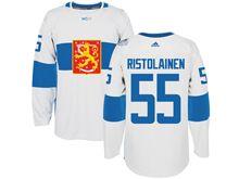 Mens Nhl Team Finland #55 Rasmus Ristolainen White 2016 World Cup Hockey Jersey