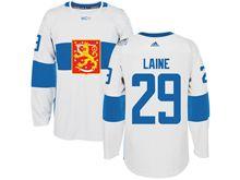 Mens Nhl Team Finland #29 Patrik Laine White 2016 World Cup Hockey Jersey