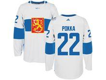 Mens Nhl Team Finland #22 Ville Pokka White 2016 World Cup Hockey Jersey
