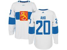 Mens Nhl Team Finland #20 Sebastian Aho White 2016 World Cup Hockey Jersey