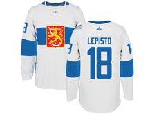 Mens Nhl Team Finland #18 Sami Lepisto White 2016 World Cup Hockey Jersey