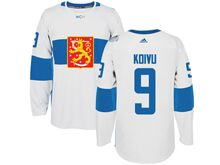 Mens Nhl Team Finland #9 Mikko Koivu White 2016 World Cup Hockey Jersey