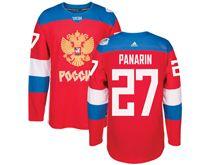 Mens Nhl Team Russia #27 Artemi Panarin Red 2016 World Cup Hockey Jersey