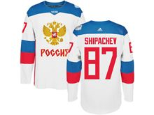 Mens Nhl Team Russia #87 Vadim Shipachev White 2016 World Cup Hockey Jersey