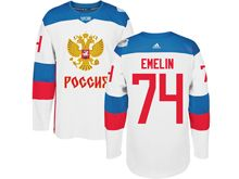 Mens Nhl Team Russia #74 Alexei Emelin White 2016 World Cup Hockey Jersey