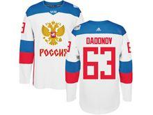 Mens Nhl Team Russia #63 Evgenii Dadonov White 2016 World Cup Hockey Jersey