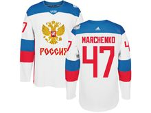 Mens Nhl Team Russia #47 Alexey Marchenko White 2016 World Cup Hockey Jersey