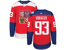 Mens Nhl Team Czech #93 Jakub Voracek Red 2016 World Cup Hockey Jersey