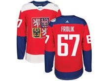 Mens Nhl Team Czech #67 Michael Frolik Red 2016 World Cup Hockey Jersey