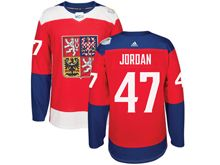Mens Nhl Team Czech #47 Michal Jordan Red 2016 World Cup Hockey Jersey