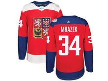 Mens Nhl Team Czech #34 Petr Mrazek Red 2016 World Cup Hockey Jersey