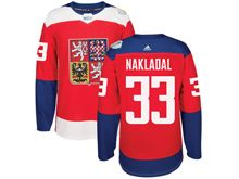 Mens Nhl Team Czech #33 Jakub Nakladal Red 2016 World Cup Hockey Jersey