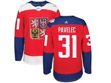 Mens Nhl Team Czech #31 Ondrej Pavelec Red 2016 World Cup Hockey Jersey