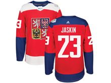 Mens Nhl Team Czech #23 Dmitrij Jaskin Red 2016 World Cup Hockey Jersey