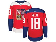 Mens Nhl Team Czech #18 Ondrej Palat Red 2016 World Cup Hockey Jersey