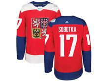 Mens Nhl Team Czech #17 Vladimir Sobotka Red 2016 World Cup Hockey Jersey